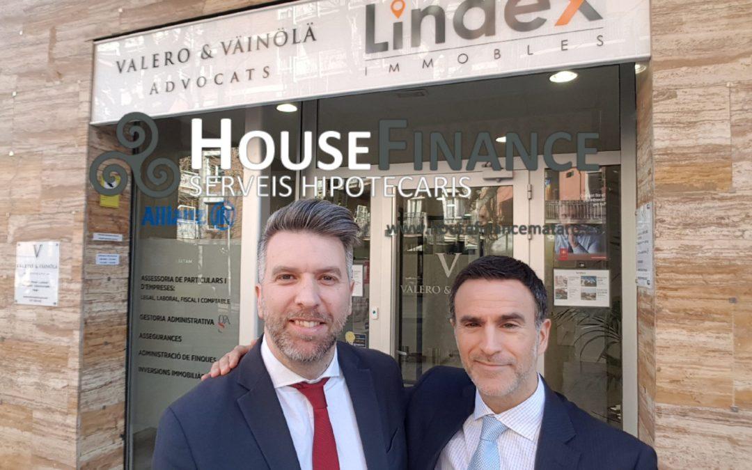 Colaboración hipotecaria entre Lindex Immobles y House Finance Serveis hipotecaris.